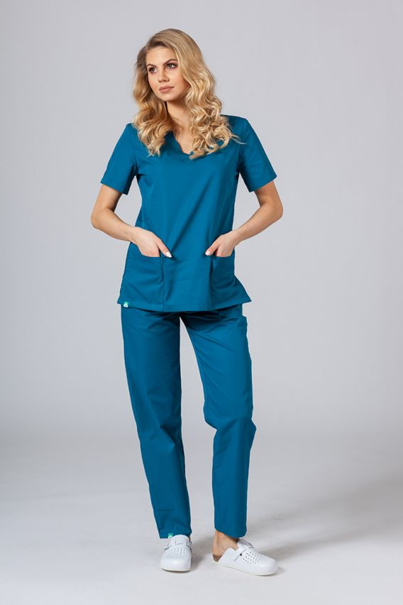 bluzy-medyczne-damskie Lékarská blúzka Sunrise Uniforms karibska modrá