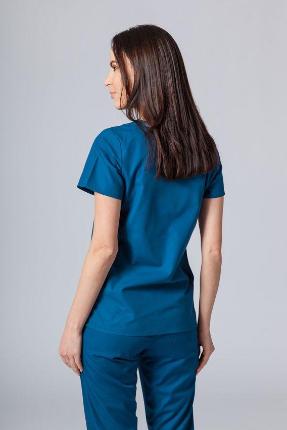 bluzy-medyczne-damskie Lékarská blúzka Maevn Red Panda karibská modrá