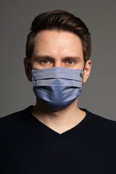 ochranne-rousky Ochranná maska Classic, 2-vrstvová s vreckom na filter (100% bavlna), unisex, modrá
