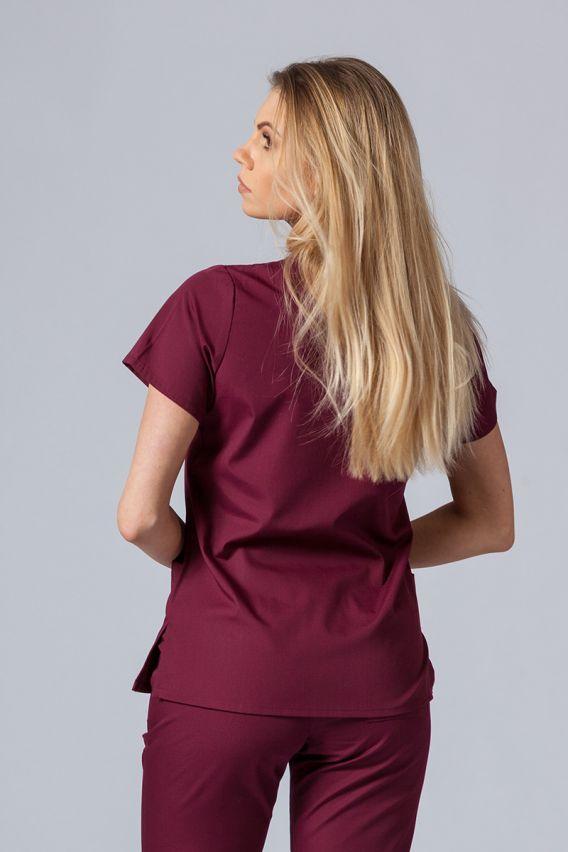 bluzy-medyczne-damskie Lékařská halena Maevn Red Panda třešňová