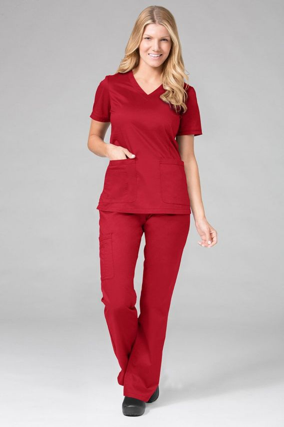 bluzy-medyczne-damskie Lékařská halena Maevn Blossom (elastic) červená