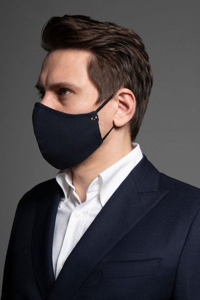 maski-ochronne Heritage ochranná maska, 2vrstvá 100% bavlna s bambusovou podšívkou, unisex, tmavo modrá