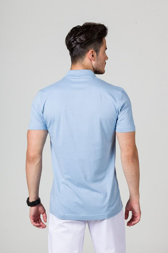 koszulki-medyczne-meskie Pánské Polo tričko modré