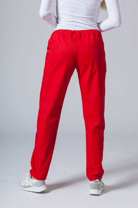 spodnie-medyczne-damskie Univerzální lékařské kalhoty Sunrise Uniforms červené