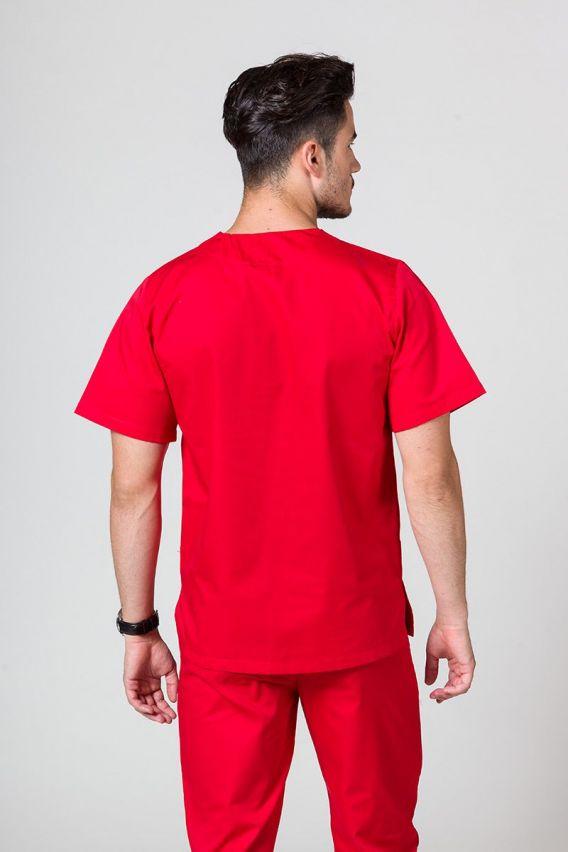 bluzy-medyczne-meskie Univerzálna lekárska blúzka Sunrise Uniforms červená