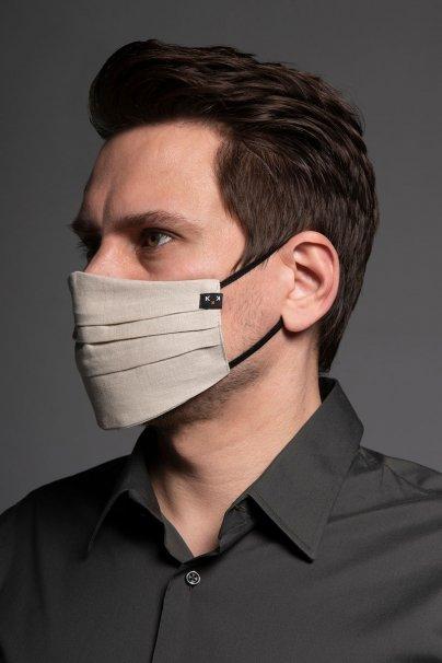 maski-ochronne Ochranná maska, dvouvrstvá (100% len), unisex, béžová