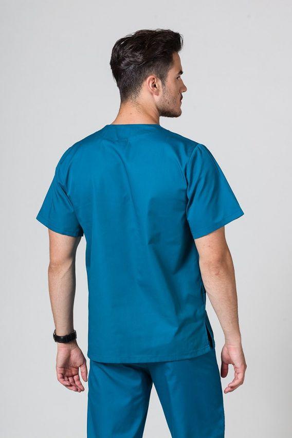bluzy-medyczne-meskie Univerzálna lekárska blúzka Sunrise Uniforms karibska modrá