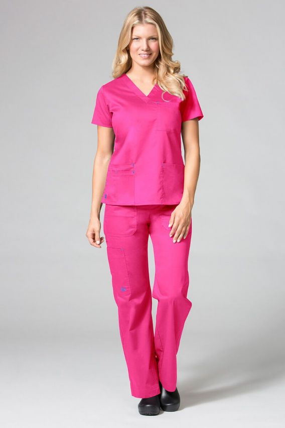 bluzy-medyczne-damskie Lékařská halena Maevn Blossom (elastic) růžová
