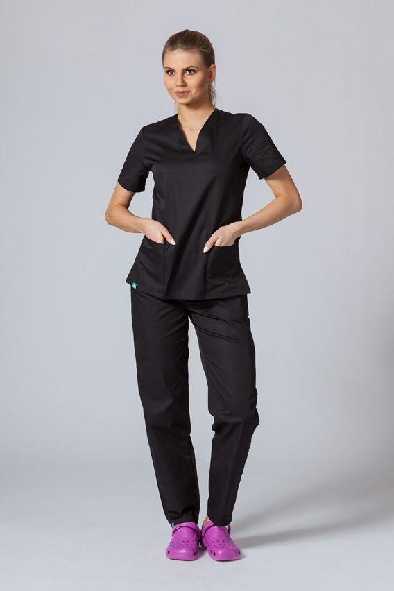 bluzy-medyczne-damskie Lékarská blúzka Sunrise Uniforms čierna