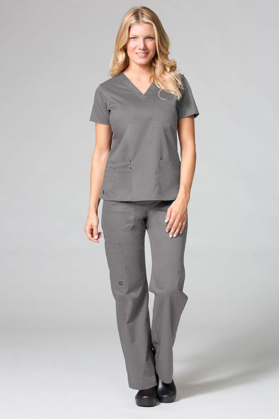 spodnie-medyczne-damskie Lékařské kalhoty Maevn Blossom (elastic) šedé