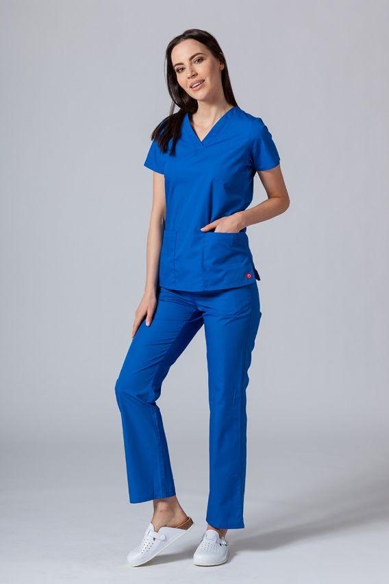 bluzy-medyczne-damskie Lékařská halena Maevn Red Panda královsky modrá