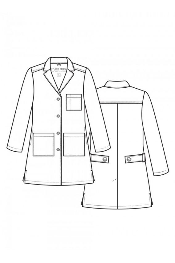 fartuchy-medyczne-damskie Dámský zdravotnický plášť Red Panda Maevn bílý (dlouhý)