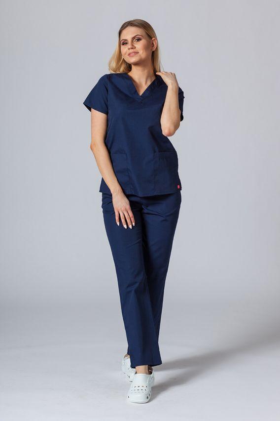 bluzy-medyczne-damskie Lékarská blúzka Maevn Red Panda námornícká modrá