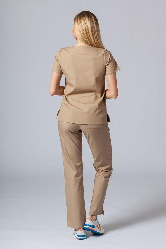bluzy-medyczne-damskie Lékařská halena Maevn Red Panda béžová
