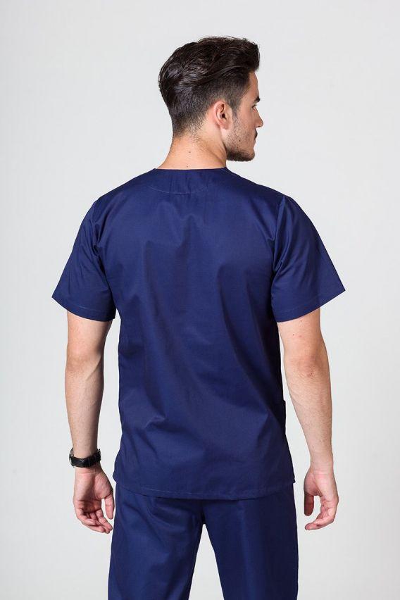 bluzy-medyczne-meskie Univerzálna lekárska blúzka Sunrise Uniforms námornícka modrá