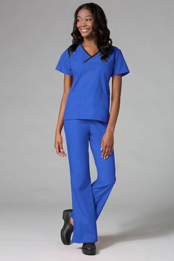 bluzy-medyczne-damskie Dámská zdravotnická halena Maevn Core tmavě modrá s černým lemem