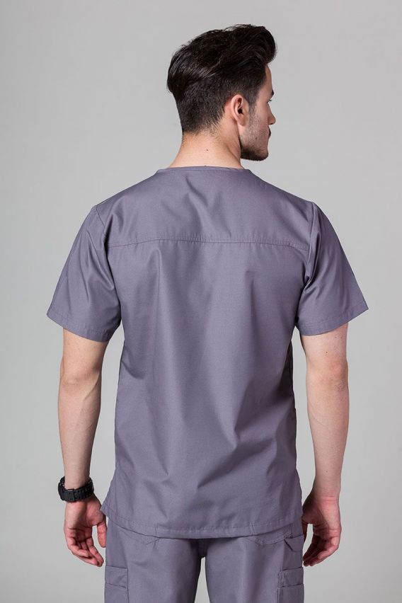 bluzy-1-1 Pánská lékařská mikina Maevn Red šedá
