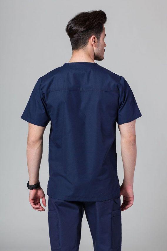 bluzy-medyczne-meskie Pánská lékařská mikina Maevn Red námořnická modř