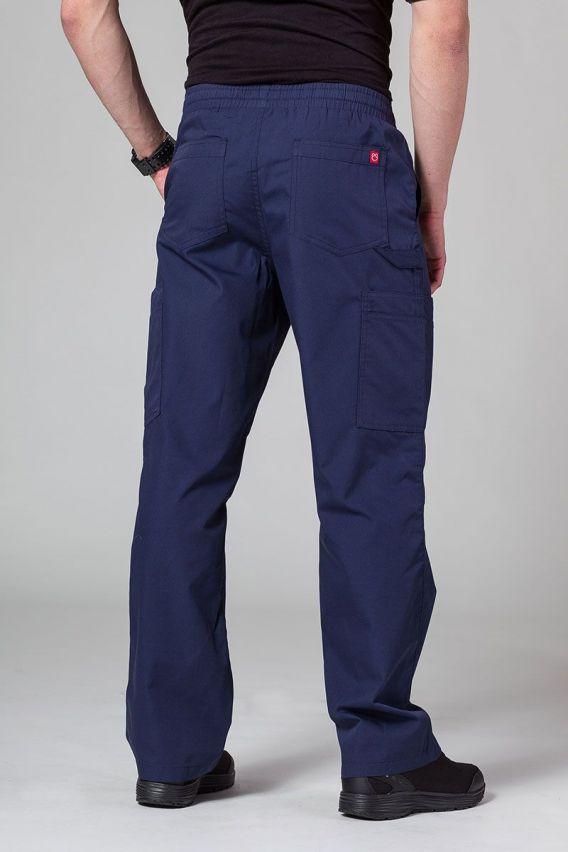 spodnie-medyczne-meskie Pánské lékařské kalhoty Maevn Red Panda Cargo (6 kapes) námořnická modř