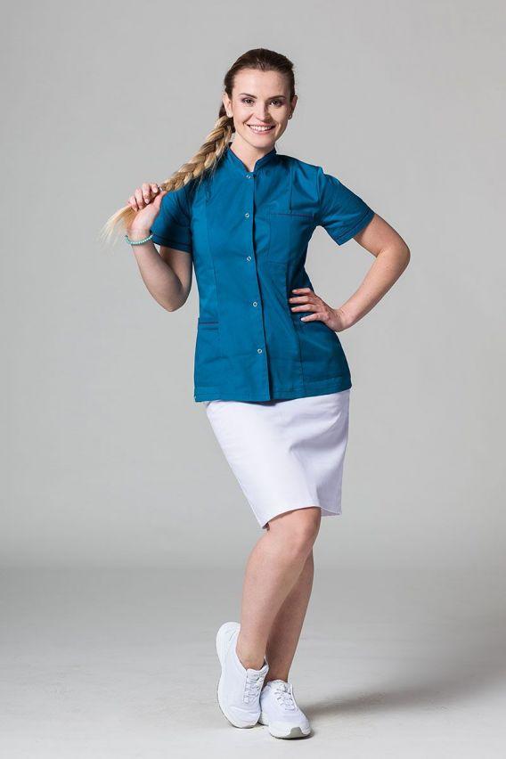 zakiety Lékařské sako 01 Sunrise Uniforms karaibské s lilkovým lemem