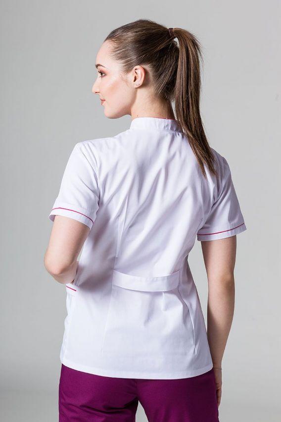 zakiety Lékařské sako 01 Sunrise Uniforms bilé s malinovým lemem