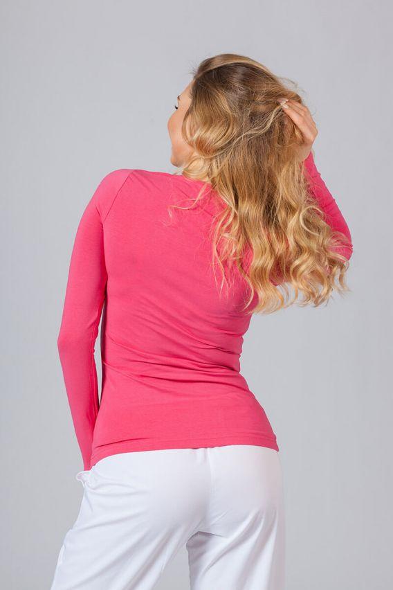 koszulki-medyczne-damskie Dámske tričko s dlhým rukávom malinové