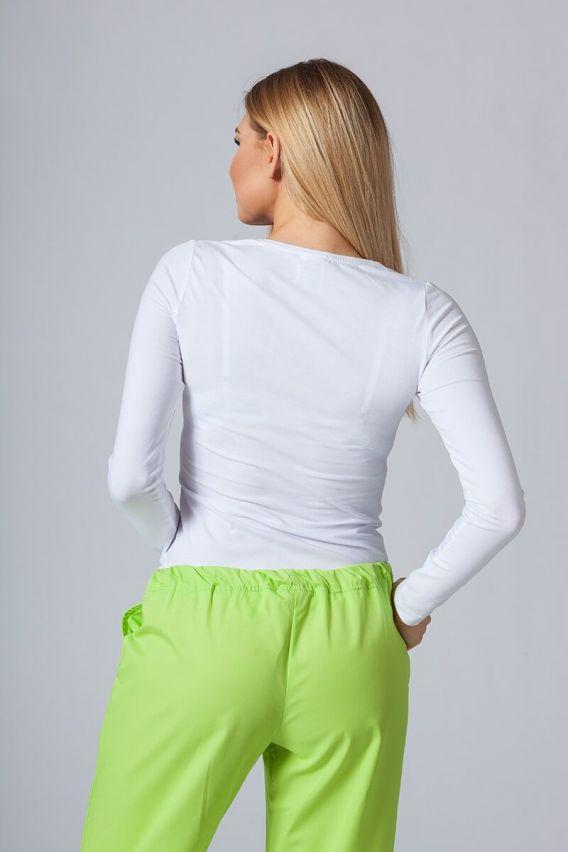 koszulki-medyczne-damskie Dámské tričko s dlouhým rukávem bílé