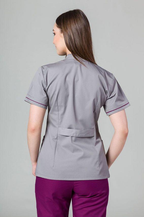 zakiety Lékařské sako 01 Sunrise Uniforms šedé s lilkovým lemem