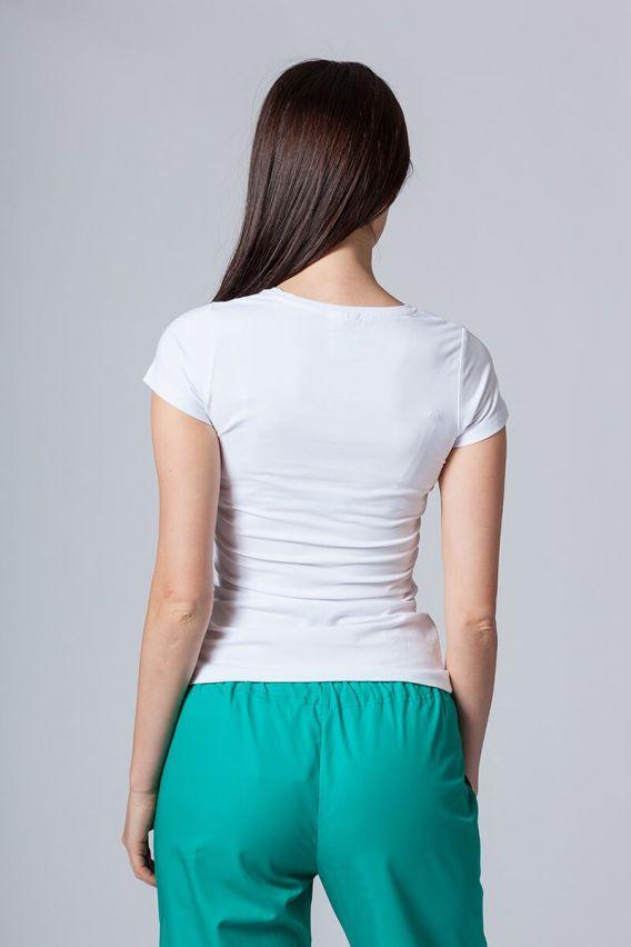 koszulki-medyczne-damskie Dámske tričko s krátkym rukávom biele