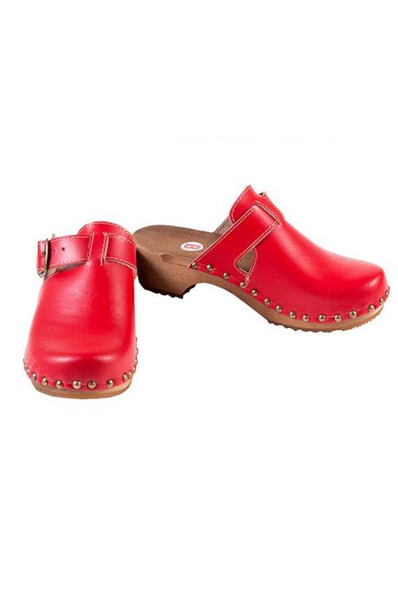 obuwie-medyczne-damskie Pohodlné dřeváky Buxa model PE15  červené