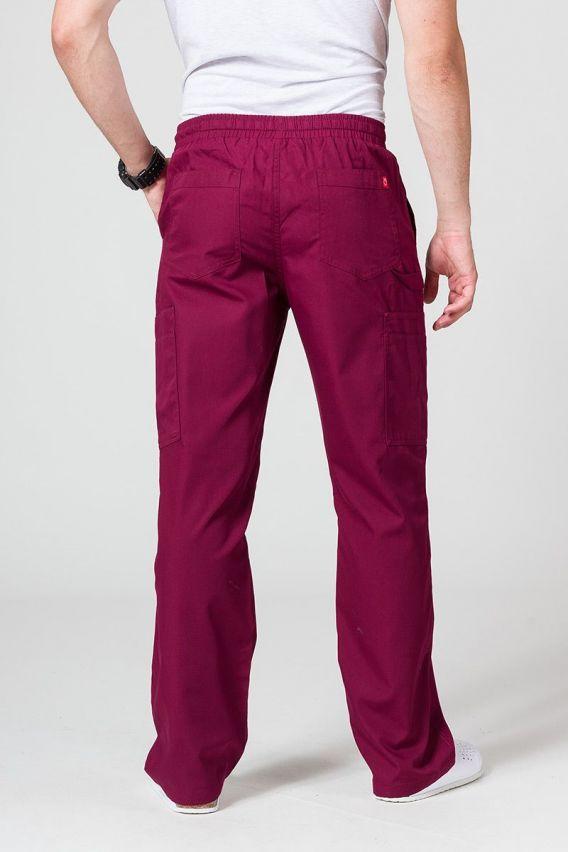 spodnie-medyczne-meskie Pánské lékařské kalhoty Maevn Red Panda Cargo (6 kapes) třešňově