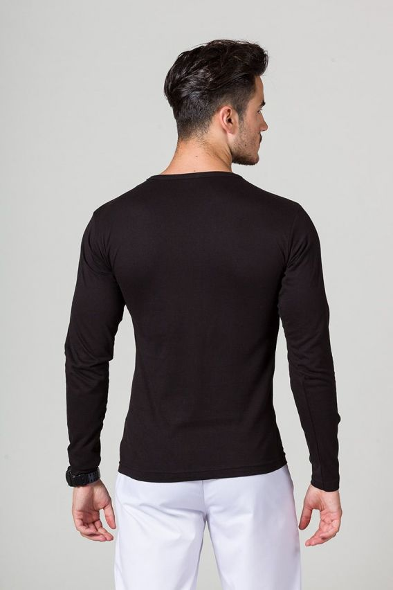 tricka-1-1 Pánské tričko s dlouhým rukávem černé