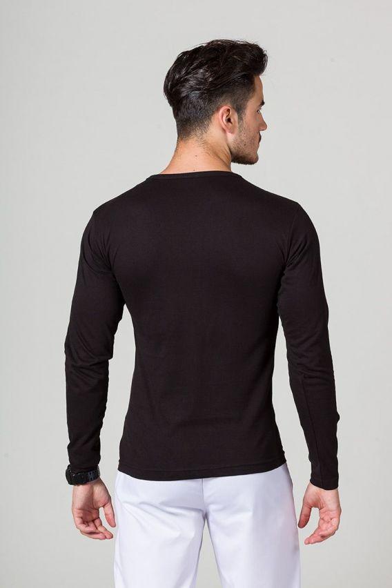 koszulki-medyczne-meskie Pánské tričko s dlouhým rukávem černé
