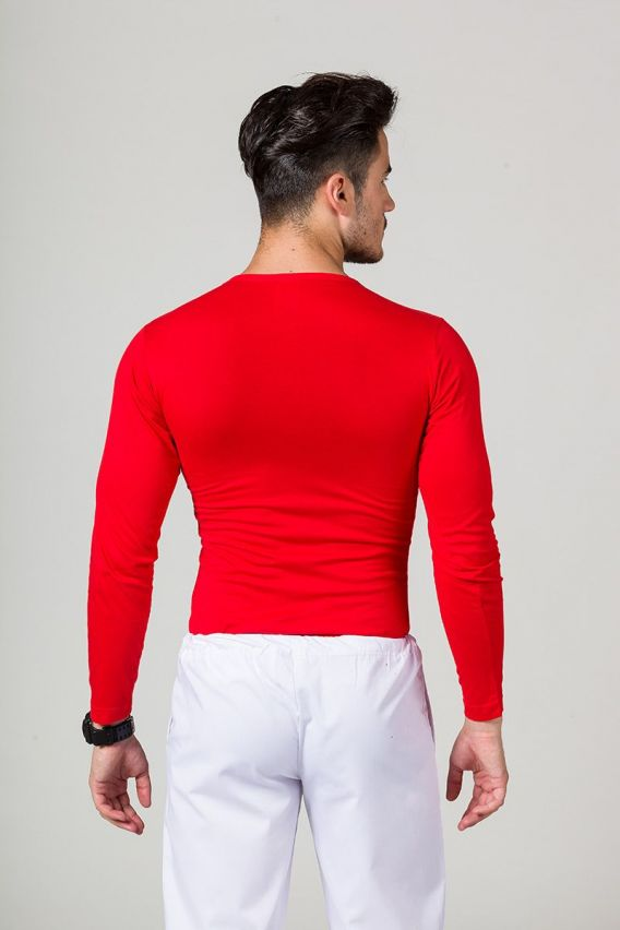 tricka-1-1 Pánské tričko s dlouhým rukávem červené