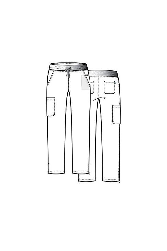 spodnie-medyczne-damskie Lékařské kalhoty Maevn Pure Modern Yoga tmavě modrě