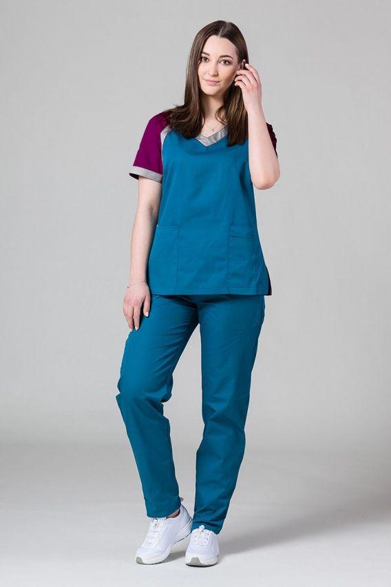 bluzy-medyczne-damskie Lékařská halena Sunrise Uniforms Active karibský modřý
