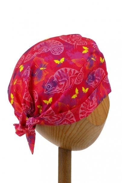czepki-damskie Zdravotnícka čiapka zavinovacia Sunrise Uniforms Style Unisex chameleóni