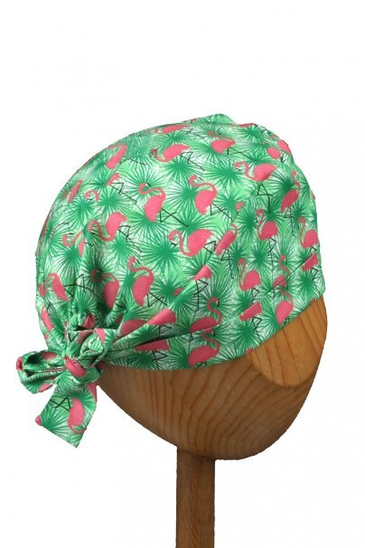 czepki-damskie Zdravotnícka čiapka zavinovacia Sunrise Uniforms Style Unisex plameniaci