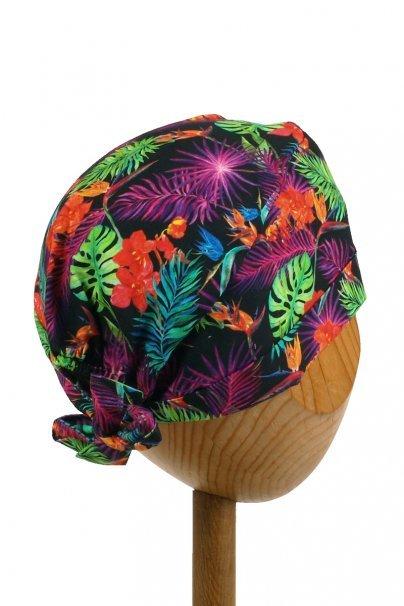 czepki-damskie Zdravotnícka čiapka zavinovacia Sunrise Uniforms Style Unisex farebné listy