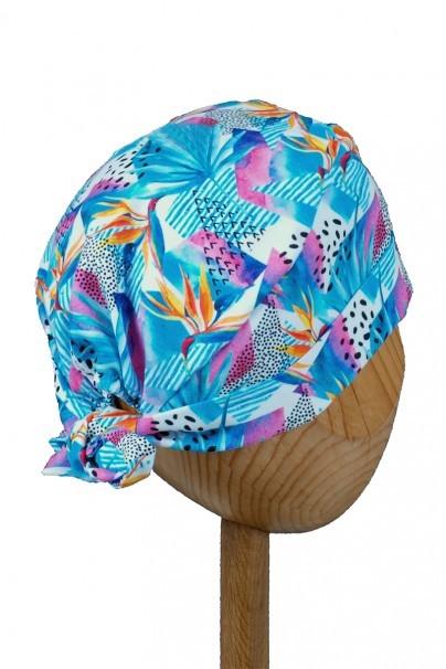 czepki-damskie Zdravotnícka čiapka zavinovacia Sunrise Uniforms Style Unisex kvety strelície