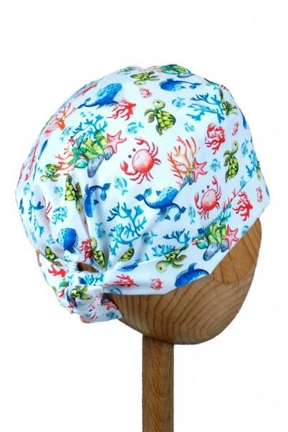 czepki-damskie Zdravotnícka čiapka zavinovacia Sunrise Uniforms Style Unisex veselý útes