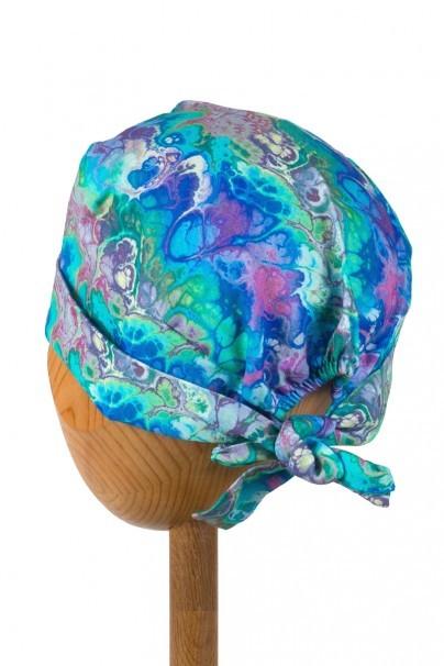 czepki-damskie Zdravotnícka čiapka zavinovacia Sunrise Uniforms Style Unisex modrá impresie