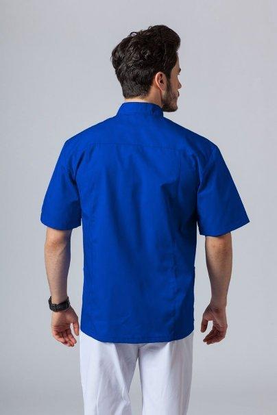 bluzy-1-1 Pánska lekárska košile / blúzka se stojatým límečkem tmavo modrá