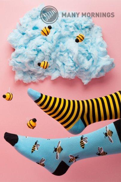 skarpetki Barevné ponožky Bee Bee - Many Mornings