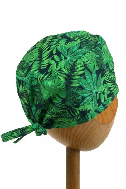 cepice-2 Zdravotnícka čiapka Sunrise Uniforms Style Unisex zelené listy