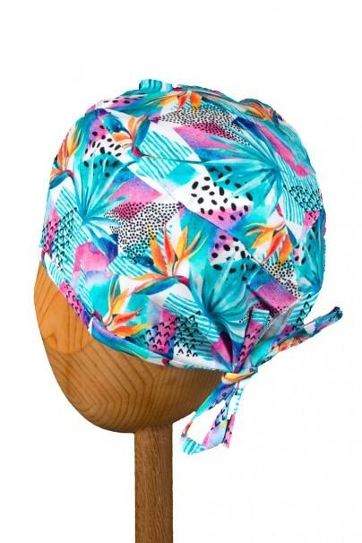 czepki-damskie Zdravotnícka čiapka Sunrise Uniforms Style Unisex kvety strelície