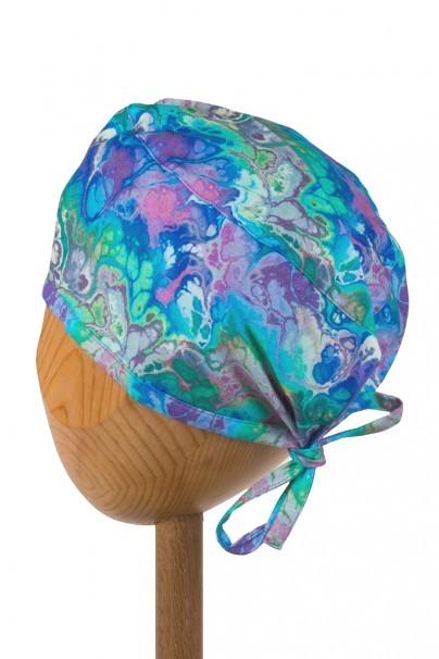 czepki-damskie Zdravotnícka čiapka Sunrise Uniforms Style Unisex modrá impresie