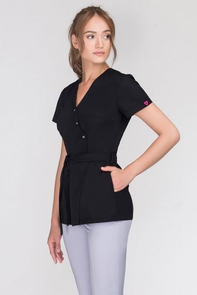 bluzy-2 Zdravotnická zástěra na zapínání Emma čierna