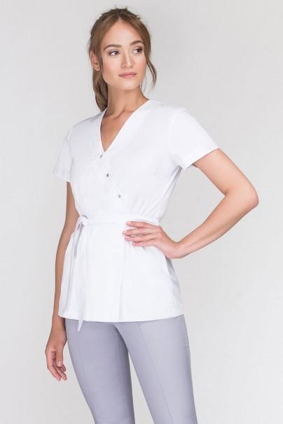 bluzy-2 Zdravotnická zástěra na zapínání Emma biela