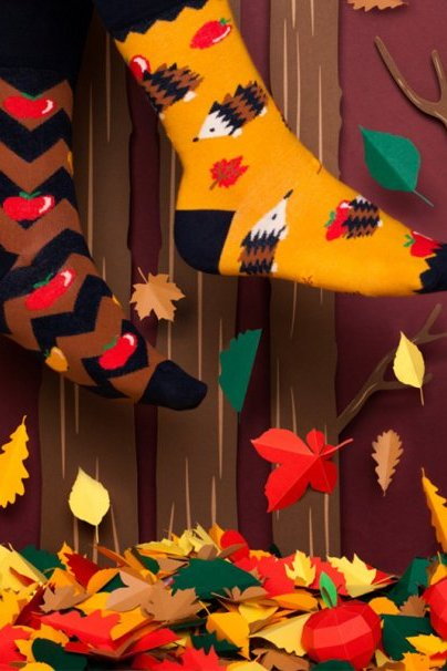 ponozky Farebné ponožky Apple HedGeHog - Many Mornings